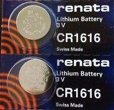CR 1616 RENATA WATCH BATTERY (2 piece) ECR1616 FREE SHIPPING Authorized Seller