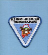 NAS NAVAL AIR STATION BRUNSWICK Maine US Navy Base Squadron Jacket Patch