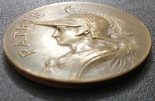 """French Art Nouveau Marianne & Rooster , BERTRAND, Bronze Medal / 51 mm (2"""") /M89"""