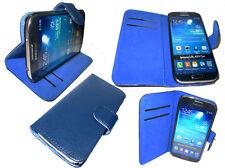 Libro De Cuero Abatible Cubierta Petaca Estuche Para Samsung Galaxy S3 Mini GT i8190 i8195 UK