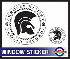 "Trojan White Decal Reverse Window Sticker 180mm 7""  VW Camper Car Large  ws10"