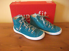 Girls SUPERFIT 95 Green SUEDE Zip/Lace BOOT Size UK 8 EUR 26 NEW!