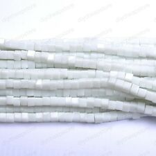 40pc Ceramic White Cube Square Czech GLASS Crystal Beads Loose Beads Jewelry 4MM