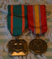 US NAVY NATIONAL DEFENSE MEDALS~ESTATE SALE~WAS GLUED ON DISPLAY~SEE PHOTOS~