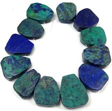 25-27mm Azurite Malachite Freeform Nugget Drop Pendant Beads (12)