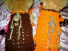 "Halloween dog apparel ""POSABLE SKELETON"" Sweater ORANGE XS"