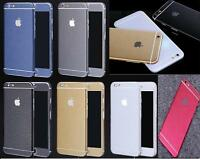 Full Body Brushed Metal Effect Decal Wrap Sticker Skin Cover For Apple iPhones