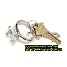 DIAMOND BLING KEYCHAIN key chain diamond ring - UNIQUE!