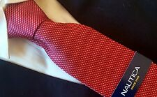 NAUTICA TIE silk Collection  RED BLUE WHITE DOTS