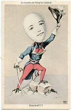 CARICATURE. A. MULLER. LE GéNéRAL. EGG HEAD. LA VOCATION DE L'OEUF DE L'AIGLE.