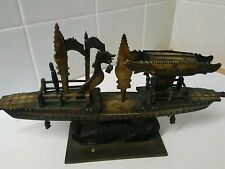 Lovely antique chinese bovine bone boat carving