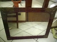 - Specchio con cornice in legno antico ORIGINALE con applicazioni lavorate