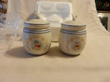 Pair of Disney Winnie The Pooh Spice Jars Lenox 2000 Garlic & Ginger (H1)