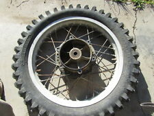1978 kawasaki ke125 - rear wheel - weather cracked tire