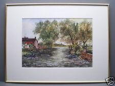 """Acquarelli """"Fattoria am Fiume"""" firmato 40,3 x 30,3 cm"""