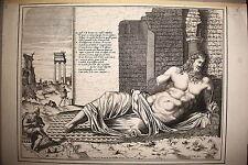 DIVINITA' ROMANA, bulino 1570. LAFRERY,G.Giacomo DE Rossi.FORO ROMANO
