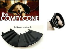 Comfy Cone Soft E-Collar Pet Recovery Collar - for Dog & Cats - Medium Black