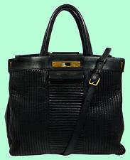 MARC JACOBS East End Quilted Madame Hilli Black Satchel Shoulder Bag Msrp $598