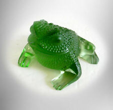 Lalique France art glass frog or toad - Gregorie -  FREE SHIPPING