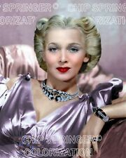 CAROLE LANDIS IN STUNNING JEWELED GOWN BEAUTIFUL COLOR PHOTO BY CHIP SPRINGER