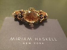 MIRIAM HASKELL SALE AUTHENTIC  HANCRAFTED SIGNED STONE CUFF BRACLET BRONZE NWT