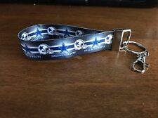 Dallas Cowboys Keychain Double Sided Ribbon Made In The USA