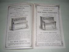 CRAMER & CO. PIANOFORTE CATALOGUE BROCHURE. ORIGINAL 1864 PUBLICATION.