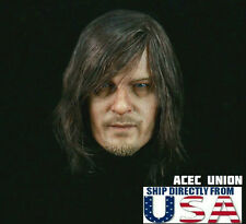1/6 DARYL DIXON Norman Reedus Head The Walking Dead PRE-ORDER For Hot Toys USA