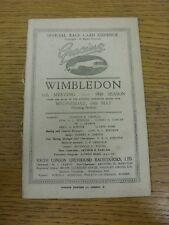 14/05/1930 Greyhound Racing Programme: Wimbledon Official Race Card - 35th Meeti