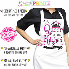 Personalised Apron LadiesWomans Chef Kitchen Birthday Christmas Mothers Day Gift