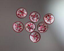 / Hübsch graviertes Perlmuttknopf-Set - Blütenmotiv - wohl ab 2010