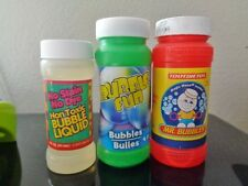 Bubbles 3 VTG Bottles MR Little Kids Fun Tootsie Imperial Toy 1993 2000 Unopened