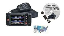 Yaesu FTM-400XD C4FM Dual Band Mobile Radio and RT Systems Prog. Kit Bundle!!
