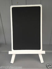 Small White Wooden Wedding Table Chalk Memo Board Blackboard Easel/Stand