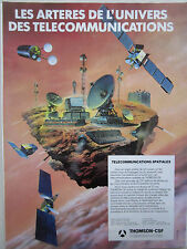 6/1983 PUB THOMSON-CSF TELECOMMUNICATIONS SPATIALES SATELLITE ANTENNE AD
