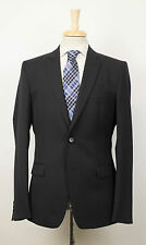 New. VERSACE COLLECTION Black Striped Wool 2 Button Suit 52/42 R Drop 8 $1395