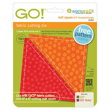 """AccuQuilt GO! & Baby Half Square Triangle-4 1/2"""" Finished Square Die 55397"""