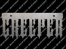 Creeper License Plate Frame Topper Hot Rat Rod Creep Greaser Rockabilly Metal