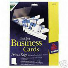 Avery 8373 Glossy Photo inkjet 320 Business Cards Bulk Pack. No margin prints.