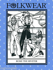 Folkwear Rosie the Riveter WWII 1940s Overalls, Shirt. Slacks Sewing Pattern 240
