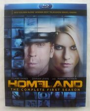 HOMELAND The Complete First Season 1 One 1st BLU-RAY 2012 FOX 3-Disc Set NEW