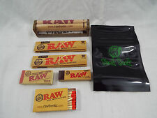 RAW Brand Set 7 Piece Set King Size 110mm Papers Tips Roller Matches #18