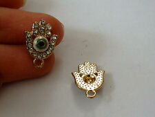 4 hamsa hand charms pendant evil eye rhinestone gold tone enamel UK wholesale