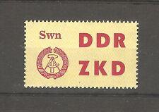 DDR Briefmarken 1963 Dienst Laufkontrollzettel des ZKD Schwerin Mi 15 **