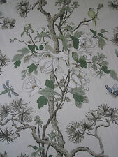 "GP & J BAKER CURTAIN FABRIC DESIGN ""Tree Peony"" 2 METRES CREAM/IVORY/SAND (200CM"