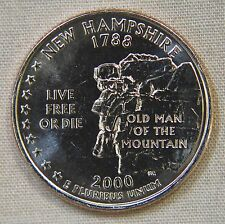 2000-P Uncirc. New Hampshire Statehood Quarter - Single