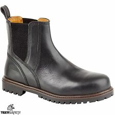 Samson 7047 S3 SRC Size 9 Black Leather Steel Toe Chelsea Dealer Safety Boots
