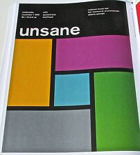 "Unsane  ""ROCK AND ROLL BAND MINI POSTER CONCERT  REPRINT 14x10"