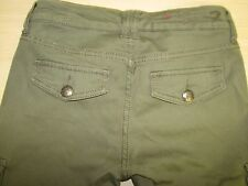 Seven 7 Size 2P 2 P Stretch Women's Denim Olive Green Cargon Pants Jeans