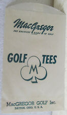UNUSED WAX PAPER SACK FOR MACGREGOR GOLF TEES  CIRCA 1940'S OR 1950'S